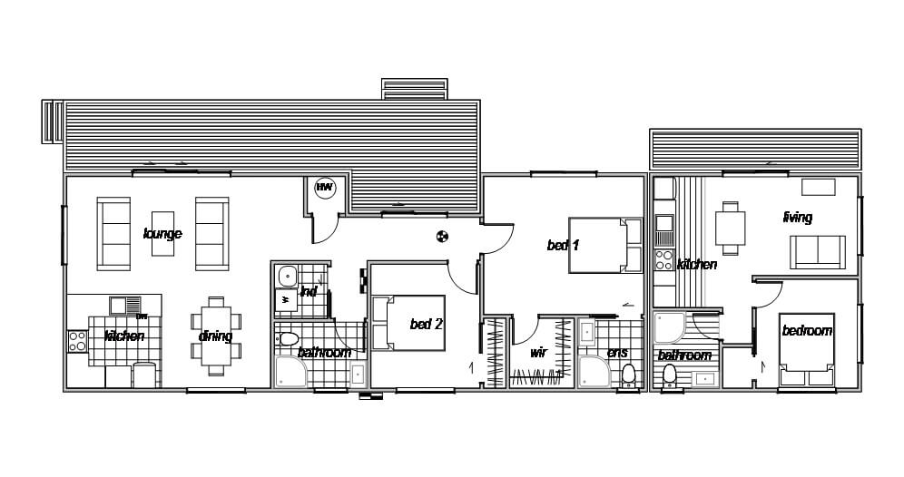 House plan with self contained unit