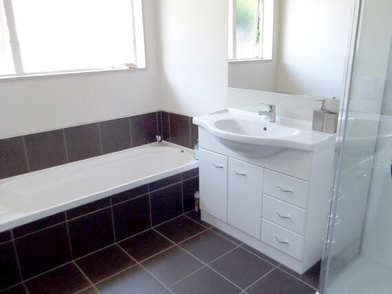 Prefab home bathroom