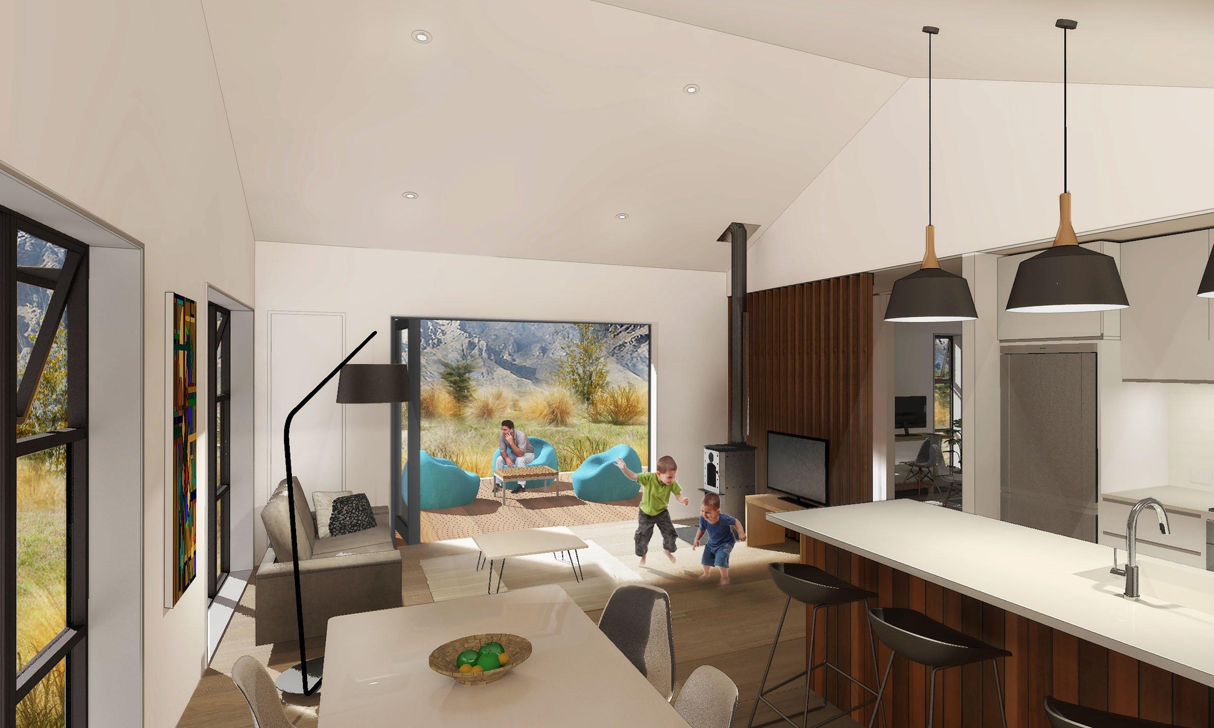 genius first light prefab home interior