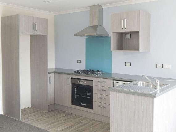 Prefab home kitchen