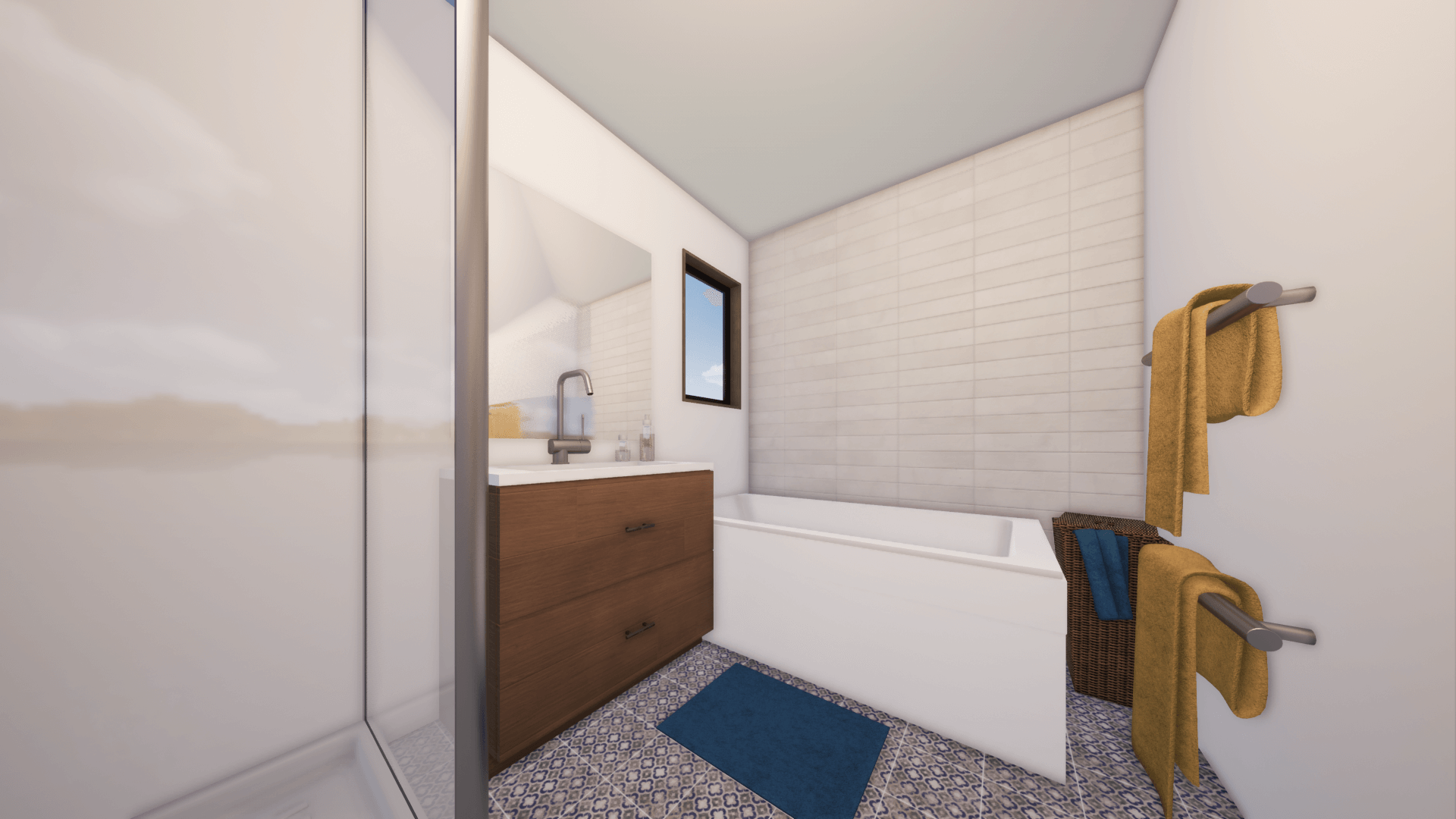 Prefab Home bathroom render