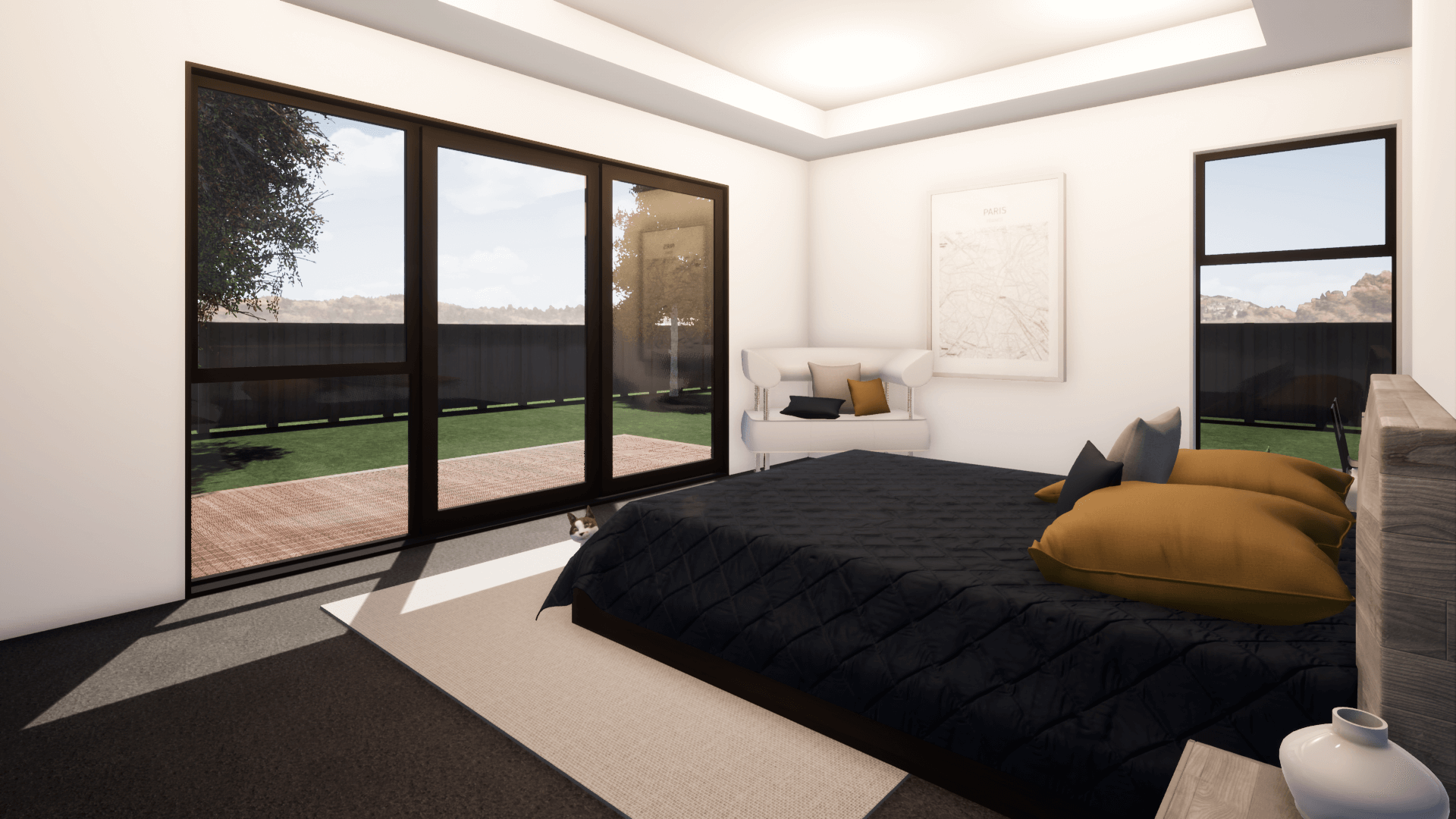 Master bedroom design prefab home Waitaki 3