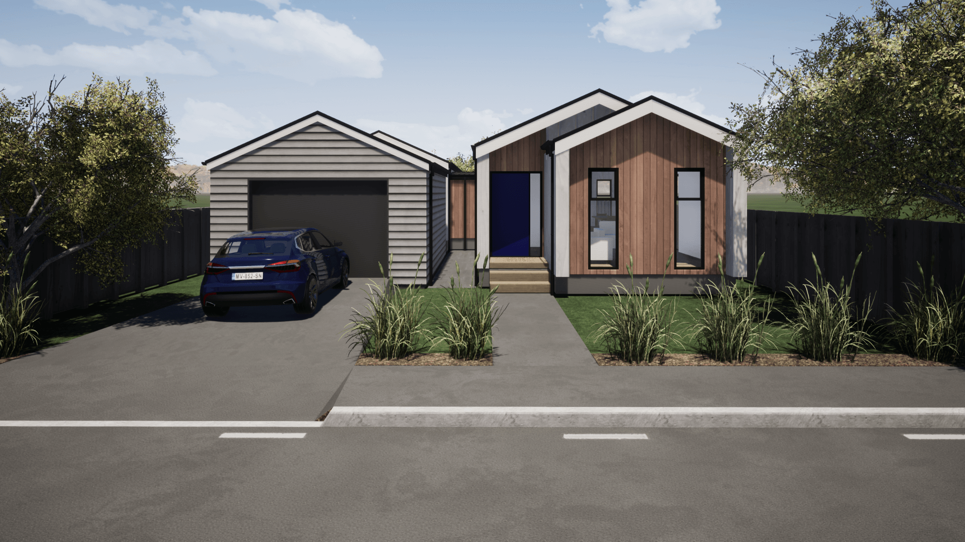 Three bedroom prefabricated house plan